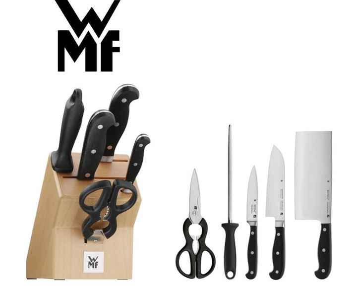 Knife block set logo