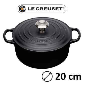 Le creuset signature round 20cm black