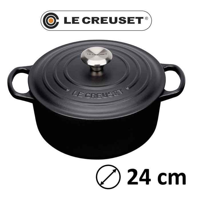 Le creuset signature round 24cm black