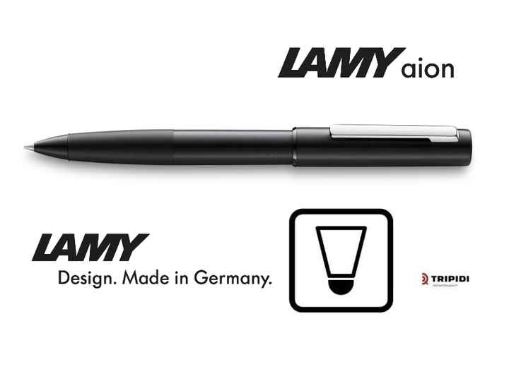 Lamy aion black tintenroller tripidi