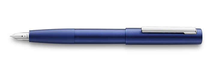077 lamy aion blue fountain pen