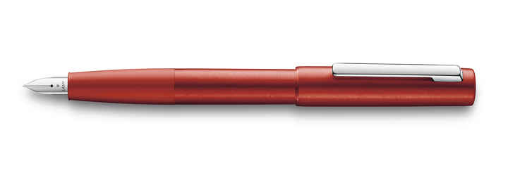 077 lamy aion red fountain pen