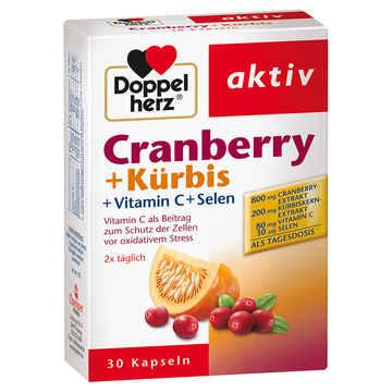 Doppelherz cranberry kuerbis 30 kps
