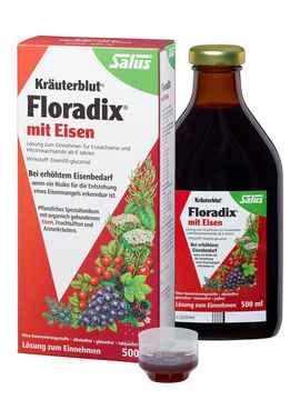 Salus floradix kraeuterblut mit eisen 500ml rot