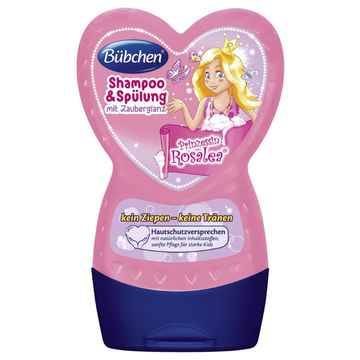 Buebchen kids shampoo conditioner little princess rosalea