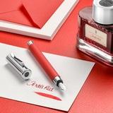 145290 fountain pen guilloche india red medium office 67518