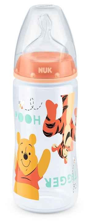 3066347 nuk fc flasche silikon 300 ml plus 6 18 m winnie the pooh orange